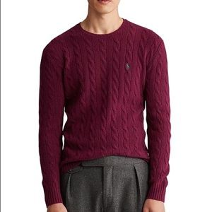 Polo by Ralph Lauren maroon sweater fits a Large
